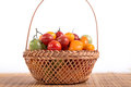 Still life with different color tomatoes Stock Image