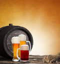 Still life with a draft beer by the glass Royalty Free Stock Photo