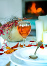 Still life with fire,pumpkin Royalty Free Stock Photo