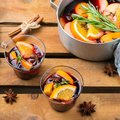 Christmas winter hot drink, mulled wine Royalty Free Stock Photo