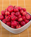 Still life with fresh small red apples Royalty Free Stock Images