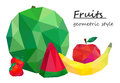 Still life, fruit, Geometric style. Vector Royalty Free Stock Photo