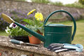 Still Life Of Gardening Equipment Royalty Free Stock Images