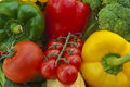Still life the group of fruits and vegetables closeup view Royalty Free Stock Images