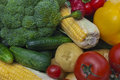 Still life the group of fruits and vegetables closeup view Stock Photography
