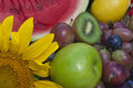 Still life the group of fruits and vegetables closeup view Royalty Free Stock Image
