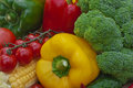 Still life the group of fruits and vegetables closeup view Royalty Free Stock Photos
