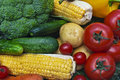Still life the group of fruits and vegetables closeup view Stock Image