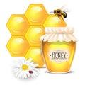 Still life with honey concept