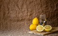 Still life with lemons Royalty Free Stock Photo