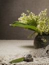 Still life with lily of the valley Stock Image