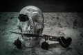 Still life love skull Royalty Free Stock Photo