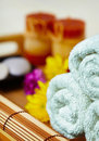 Still life - massage and spa Stock Photos