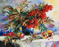 Still-life with a mountain ash Royalty Free Stock Photo