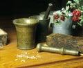 Still life: old medicine Royalty Free Stock Photo