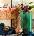 Still life oriental objects Stock Photos