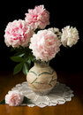 Still-life with peony Royalty Free Stock Photo