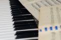 Still life piano notes
