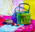 Still life.The picture is written in watercolor.