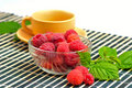 Still life with raspberries Royalty Free Stock Photography