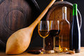 Still life with red and white wine Royalty Free Stock Photo