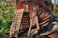 Still life of rusty buckets , forks, graters Royalty Free Stock Photo