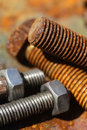 Still life of rusty screws Royalty Free Stock Photo