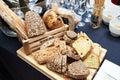 Still life with sliced grain bread Royalty Free Stock Photo