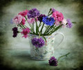 Still life with varicoloured corn-flowers Royalty Free Stock Photo