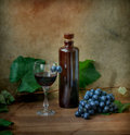 Still life with vine and wine Royalty Free Stock Image