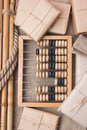 Still Life in a warehouse with  abacus Royalty Free Stock Photography