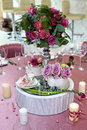 Still life wedding. Table setting at a wedding reception. Royalty Free Stock Photo