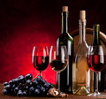 Still life with wine bottles Royalty Free Stock Photo