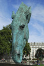 Still Water horse head sculpture in London Royalty Free Stock Photo