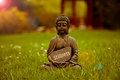 Stillness buddha statue with the word Royalty Free Stock Photo