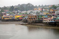 Stilt houses at Castro, Chiloe Island, Chile Royalty Free Stock Photo