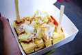 Stincky tofu chou tofu a local must try dishes in a night market taiwan stinky made from fermented bean curd serve with spicy Royalty Free Stock Images