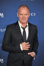 Sting los angeles ca november at the lacma art film gala at the los angeles county museum of art Royalty Free Stock Images