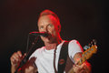 Sting music singer and composer seen performing during his live act in the island of ibiza at the ibiza music festival spain Royalty Free Stock Photography