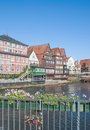 Stintmarkt lueneburg town lower saxony germany a famous place in called Royalty Free Stock Photos