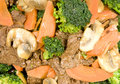 Stir Fried Beef and Vegetables Royalty Free Stock Images