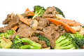 Stir Fried Beef and Vegetables Stock Images