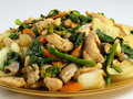 Stir-Fried Chicken & Vegetables Stock Images