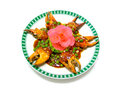Stir fried clab claw in spicy sauce chinese food Stock Images