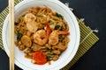 Stir fried flat rice noodle Royalty Free Stock Photo