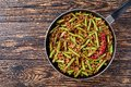 Stir Fried Green Beans with ground pork Royalty Free Stock Photo