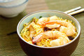 Stir fried Noodle with prawn Royalty Free Stock Images