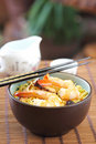 Stir fried Noodle with prawn Stock Photography