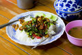 Stir Fried Pork Basil, Thai Food, Delicious, Stir Fried Pork Chi Royalty Free Stock Photo