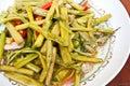 Stir fried swamp cabbage stock photos Stock Photo
